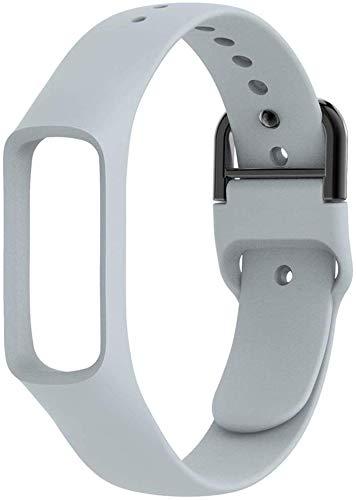 Cinturini Intelligente Vigilanza del Silicone di Colore Puro Cinturino da Polso Cinturino per Galaxy Fit-e Multipla di Colore (Nero) Uomo Casual Vestito da Affari Mens Orologi di Moda