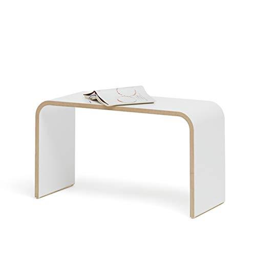 Tojo Sit | Hocker | Ablage | Beistelltisch | MDF beschichtet Weiß | 70 x 30 x 40 cm (L x B x H) Vielseitig einsetzbare Sitzgelegenheit | Holzhocker