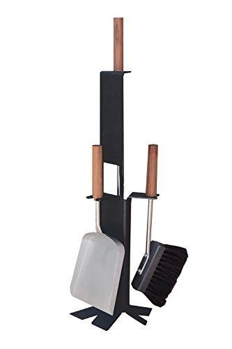 MS Beschläge® Kaminbesteck Kamingarnitur Ofenbesteck 3-teilig schwarz beschichtet