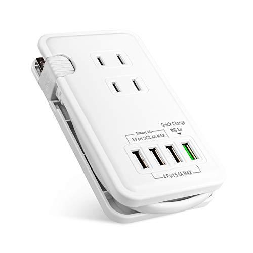 【 qc3.0 急速充電 usb充電ポート付 】Ewin 電源タップ usb コンセント ac アダプター 一体式 3個口 4USBポ...