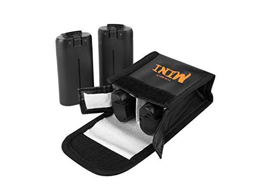 Tineer Nylon Lipo Battery Safe Bag para dji Mavic Mini Accesorio - Bolsa de Almacenamiento de protección de batería Bolsa a Prueba de explosiones (Medium)