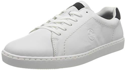Rieker Herren Frühjahr/Sommer B6030 Sneaker, Weiß (Hartweiss/Pazifik 80), 46 EU