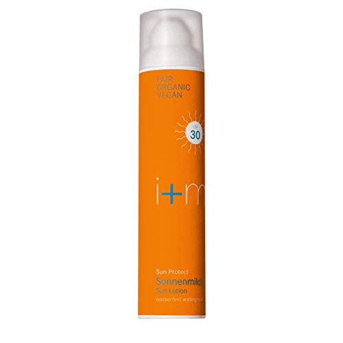 i + m Sun Protect LSF 30 wasserfeste Sonnenmilch 100 ml mit UVA/UVB Schutz - natürlicher mineralischer Filter - ohne Weißel-Effekt - ohne Nanopartikel