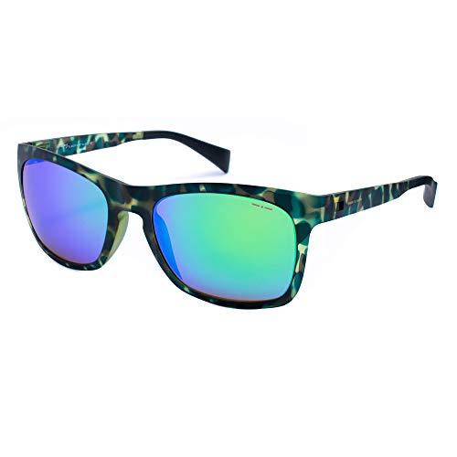 italia independent 0112-035-000 Gafas de sol, Negro/Verde, 54 Unisex
