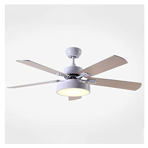 Kiter Plafondventilator, wit, moderne led-houten plafondventilator, houten plafondventilator, lampen, woonkamer, dakventilator, DC plafondventilatoren met licht plafondventilator, licht