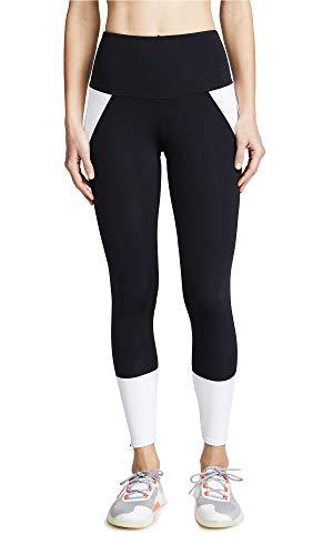 Onzie Athletic Midi Pantalones de Yoga, Negro/Blanco, M-L para Mujer