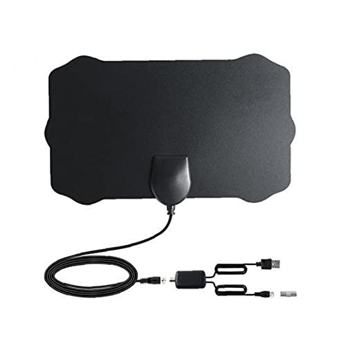Antena de TV digital HDTV cubierta Amplified Antenas TDT Arial 980 Millas de Alcance presión de la señal del amplificador para los canales locales negro, accesorios de pantalla de video de TV