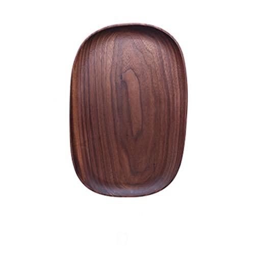 Todo Wood MADEICABLE Madera Irregular Oval Oval Oval Pan Pan Placa Placa DE Frutas PULSOS SAUCEER Tea Tray DE Poster DE LA Cena DE LA Cena DE LA Cena 210511 (Color : D)