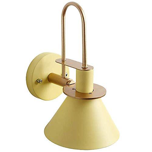 NMDD Lámpara de Pared Antigua Iluminación de Pared de Dormitorio Pantalla de luz Amarilla de Metal Dormitorio de Noche Moderno Accesorios de Sala de Estar Luz de baño Luces de Escalera Decoracion