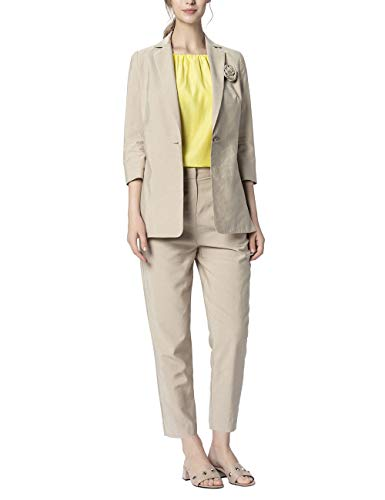 APART Fashion Blazer with Flower Chaqueta de Traje, Color Carne, 48 para Mujer