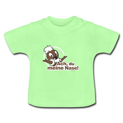 Sandmännchen Pittiplatsch ACH Du Meine Nase Baby T-Shirt, 6-12 Monate, Mintgrün