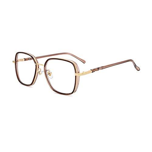 HQMGLASSES Gafas de Lectura portátiles de Marco Grande con luz Anti-Azul de Alta definición para Mujer, Lente de Resina asférica 1.56 Gafas de computadora antifatiga dioptrías +1.0 a +3.0,Rosado,+2.5