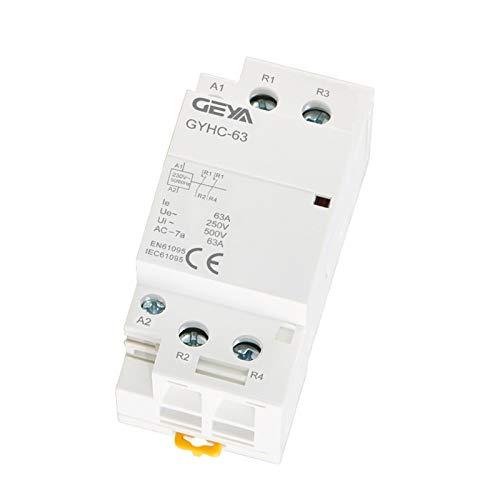Contactor De Contactor Modular 2P 40A 63A 2NO o 2NC Montaje en...