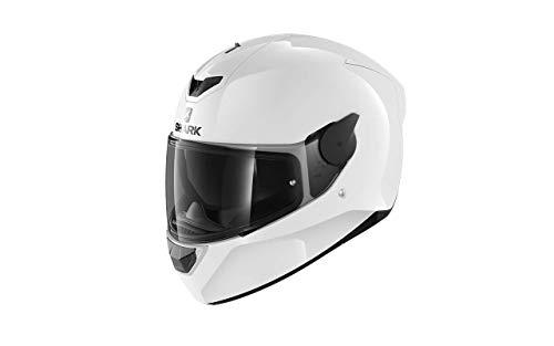 SHARK Herren NC Motorrad Helm, Weiss, L