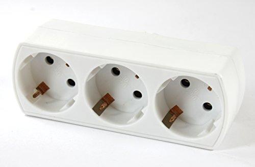 Bloc multiprise 3 prises multiprise Adaptateur 3 prises – K & B Distribution de plus multi Fiche adaptatrice Contact 550 (1 pièce)