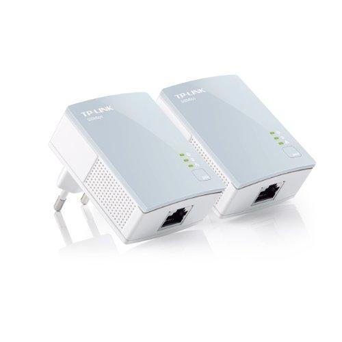 TP-LINK TL-PA411KIT - Nano Extensor de Red por línea eléctrica (AV500 Mbps, sin configuración), Blanco