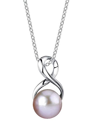 The Pearl Source Freshwater Cultured Pearl Pendant Necklace for Women with...