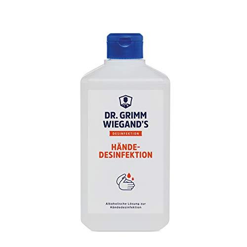 Desinfektionsmittel Hand Händedesinfektionsmittel 500 ml von Dr. Grimm Wiegand\'s Desinfektion begrenzt viruzid Plus + Desinfektions- Anleitung praxy (1)