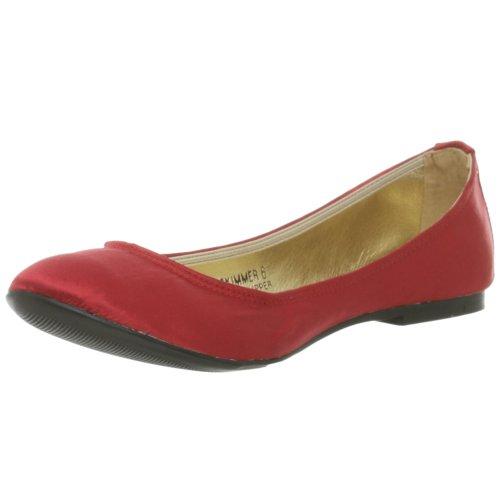 N.Y.L.A. Damen Skimmer Ballett Flach, Rot (Rot, Satin), 39 EU