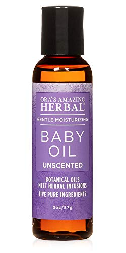 Travel Size Baby Oil, Fragrance Free Baby Oil, Ora's Amazing Herbal, Unscented Baby Oil, Formulated with Organic Calendula Oil
