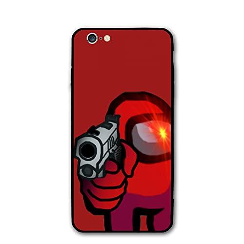 Among Us0 - Carcasa para iPhone 6/6s, color negro