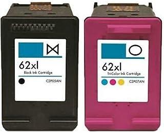 PACK NEGRO Y COLOR G&G HP 62XL CARTUCHOS DE TINTA REMANUFACTURADO Para uso en: HP Fabricante: G&G Capacidad: 18 ml Compatible con: Envy 5640 e-All-in-One Envy 7640 e-All-in-One Officejet 5740 e-All-in-One Officejet