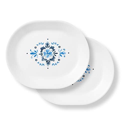 Corelle Coordinates Portofino Serving Platter, 2 Pack