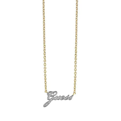 Guess Women Gold Pendant Necklace of Length 42cm UBN82054