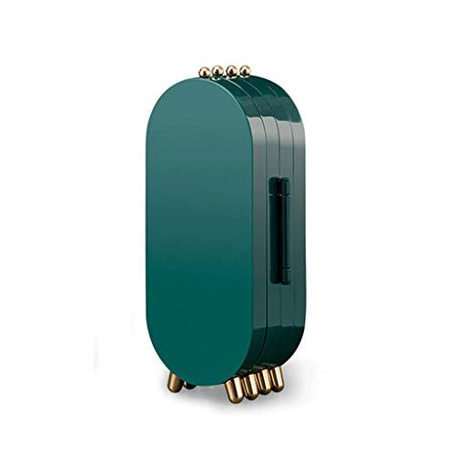 GYDSSH Pantalla de joyería de Vendimia Libre de Polvo Organizador de Almacenamiento de Maquillaje de Escritorio portátiles ABS PIES Pendientes Caja DE Caja DE Caja (Color : Blue)