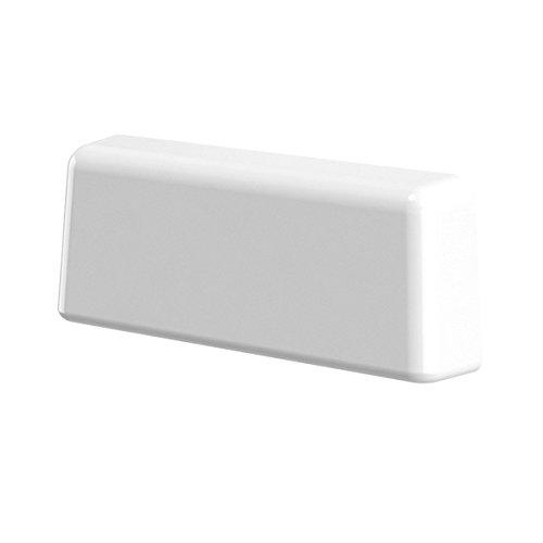 B-H Wasserschlitzkappen Standard Weiss RAL 9016 für Schlitzfräsungen von 20-34 x 5mm, 25 Stück