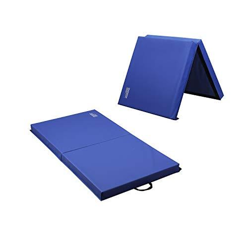 Heavy Duty Gymnastics Mat Thick Yoga Folding Panel Gym Fitness Exercise 10//8//6FT