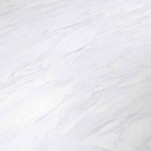 TRECOR® Vinylboden Klick RIGID 4.2 Massivdiele - 4,2 m stark mit 0,30 mm Nutzschicht - Sie kaufen 1 m² - WASSERFEST (Vinylboden | 1 qm, Carara Marmor)