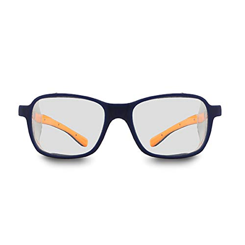 PEGASO 2009.03-Gafas Proteccion Gama GRADUABLES Neutra Modelo Europa Azul/Naranja Lente Mineral, Negro, L ⭐