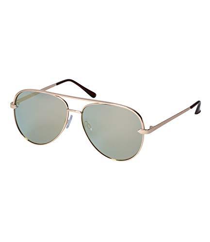 SIX Gafas de sol unisex con diseño de aviador con lentes de categoría 2 y filtros UV400 (326-329)