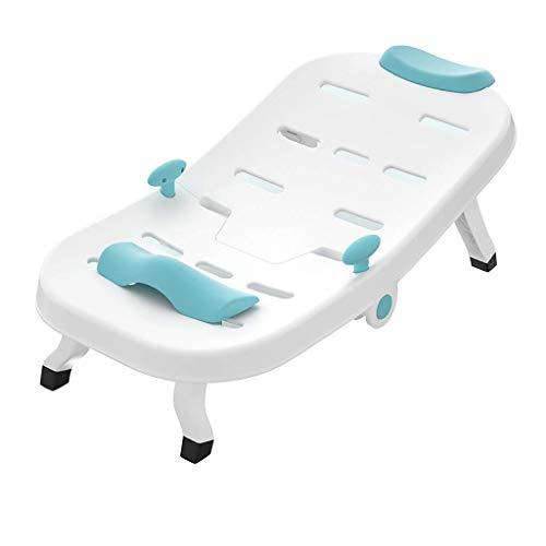KaKaDz Baby Dusche Bad Shampoo Stuhl Kinder – Kinder Kopf Haarspüler Stuhl Babyparty Dekorationen Babyparty Gastgeschenke – 91,5 x 40 x 16,5 cm, Blue-91.5x40x16.5cm