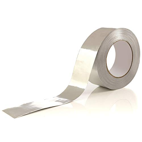 Aluminum Tape/Aluminum Foil Tape – Professional/Contractor-Grade - 1.9 inch x 150 feet (3.4 mil) - Ideal for Sealing & patching hot and Cold HVAC, Duct, Pipe, Insulation Home and Commercial