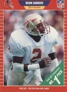 1989 pro set deion sanders rookie card