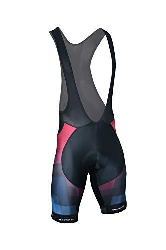 BERKNER - Parker Pantalon à bretelles avec rembourrage en gel aux ions argentés, noir, rouge, bleu, taille 3XL