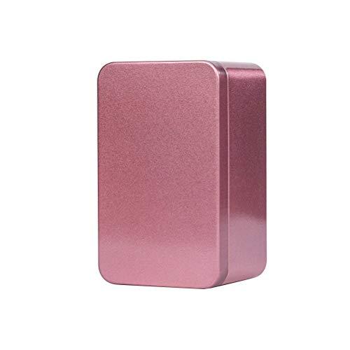 Yardwe Blechdosen Quadratische Box mit Deckel Metallboxen Leerdose Behälter Geschenkbox für Tee Kerzen Bonbons 13x8x6cm (Rot)