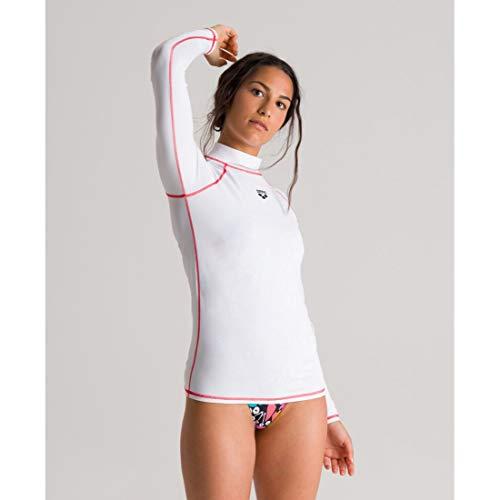 ARENA Rash UV - Camiseta de Manga Larga para Mujer, Mujer, Camiseta UV, 003131, Blanco, Large