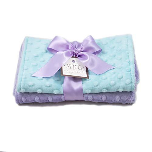 MEG Original Lavender & Aqua Baby Girl Burp Cloth Set