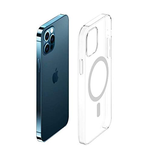 Compatible con iPhone 12/12 Pro Cristal Transparente Funda Protectora Totalmente Transparente No Amarillamiento Ultra-delgado Silicona Anti-colisión Teléfono Caso