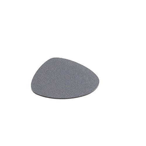 Hey Sign Untersetzer Nierenform Stone 5 mm 12-teilig, Farbe:16 - Hellgrau