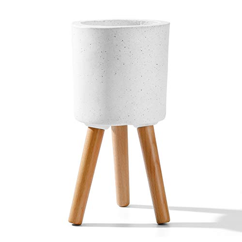 of fiskars indoor plants dec 2021 theres one clear winner POTEY Floor Plant Pot Indoor - 5.6 Inch Fiberglass Mid-Century Standing Planter Flower Container Cylinder Unglazed with Drainage, 14.6 Inch Tall, Matte White with Splatter Paint