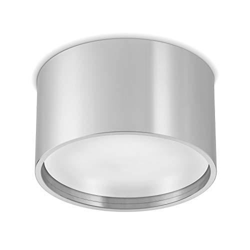 Ledox Led Aura Aufbaustrahler Set GX53 inkl. Leuchtmittel 230V 9W GX53 6000k tageslichtweiß Aluminium Aufbau-strahler-lampe-leuchte Decken-aufbau-leuchte-lampe-strahler (silber)