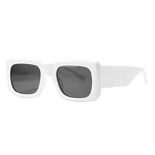 U/N Gafas de Sol cuadradas de Moda para Mujer, Gafas de Sol de Lujo Vintage para Mujer, Gafas de Sol para Hombre, Gafas de Tendencia Retro-6