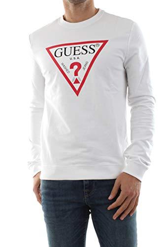 Guess M01Q37 K6ZS0 Audley Felpa Uomo White M