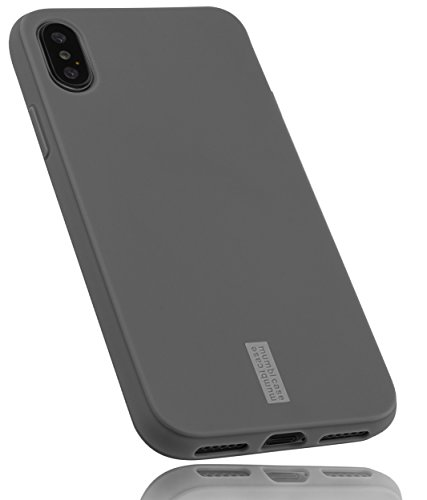 mumbi Hülle kompatibel mit iPhone SE 2 2020/7 / 8 Handy Hülle Handyhülle, grau mit grauem Streifen