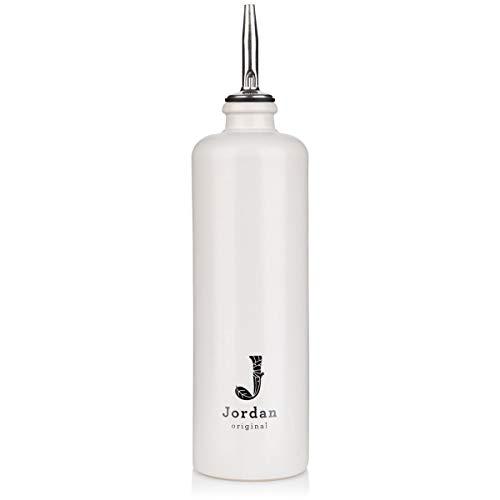 Jordan Original | Keramik Flasche schmal | matt weiß | 500 ml Fassungsvermögen | inkl. herausnehmbaren Edelstahlausgießer