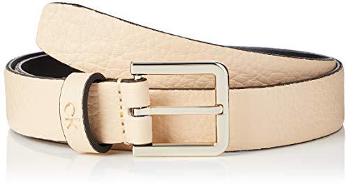 Calvin Klein Ck Essential Belt 2.5cm Cintura, Giallo (Light Sand Td), Medium (Taglia Produttore: 90) Donna